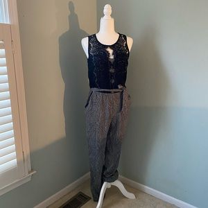 NWT Anthropologie Elevenses Lace Medley Jumpsuit